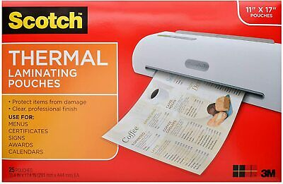 Laminating Pouches Thermal 3mil F11x17 25pk Cl