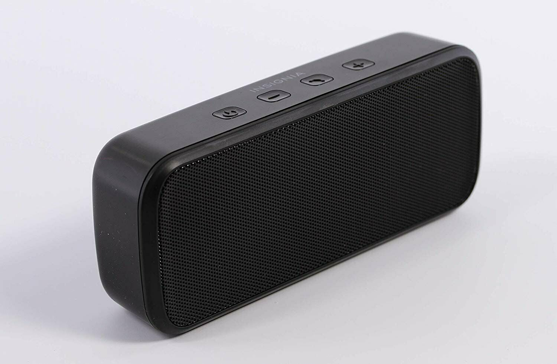 Insignia Portable Bluetooth Stereo Speaker  Black - New