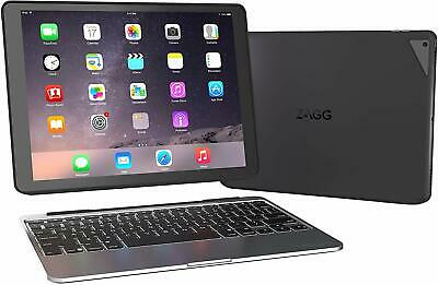 ZAGG Slim Book Ultrathin Case, Hinged with Detachable Bluetooth Keyboard for App