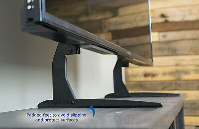 Universal LCD Flat Screen TV Table Top Stand Base Padded Bottom Feet 22