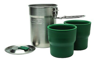 stanley camping cook set compact hiking pan & nesting cups adventure tea coffee