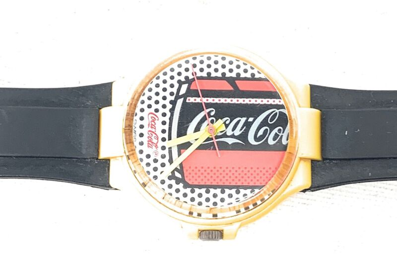 VINTAGE ANDY WARHOL STYLE COCA COLA SWATCH WATCH Water Resistant