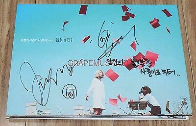 RED ICKLE Half Album K-POP REAL SIGNED AUTOGRAPHED PROMO CD #2