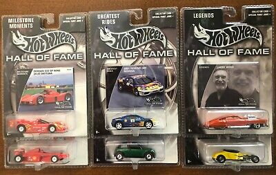 Hot Wheels Hall Of Fame LOT; 2 LEGENDS, 2 GREATEST RIDES, 2 MILESTONE MOMENTS