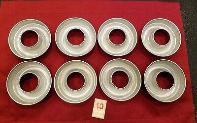 "Set 8 Vintage Aluminum Metal CIRCULAR Molds Jello Soap Cakes Crafts3 1/2"" - R10"