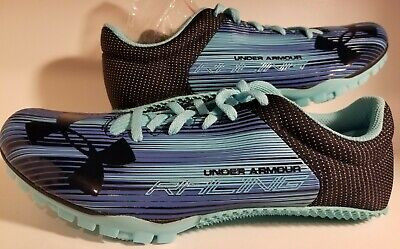 Under Armour Kick Sprint Track Woman Spikes *NEW* Blue Size 9.5 FREE SHIPPING