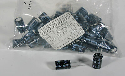 Capacitor - Electrolytic - 1000 Mfd 25 Vdc - 50 Pieces