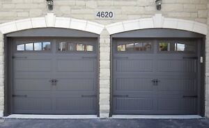INSULATED CARRIAGE GARAGE DOORS......... $900 INSTALLED