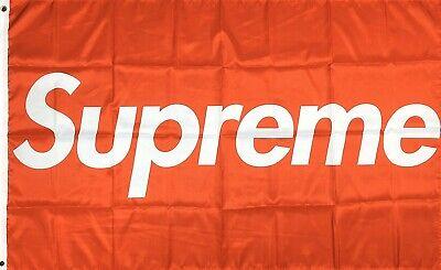 Supreme Flag 3x5 ft Red Box Banner Skate Boards Man-Cave Garage Wall Decor 5 Decor Banner