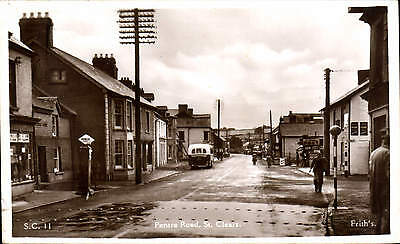 St Clears. Pentre Road # S.C. 11 by Frith. Petrol Pump.