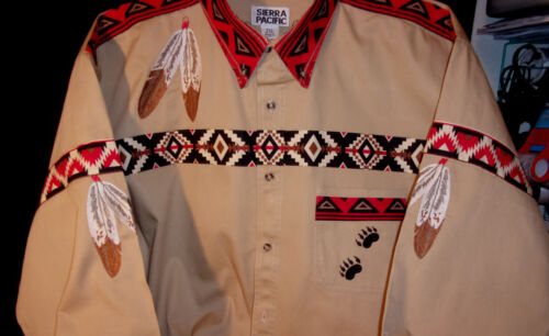 EAGLE FEATHER-BEAR SHIRT (NATIVE AMERICAN LOOKING)