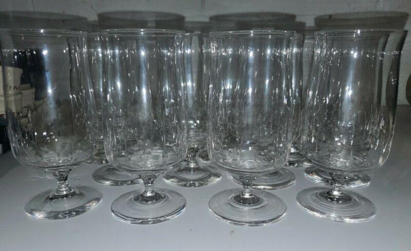 """Set of 4 Lenox AFTERGLOW Ice Tea Glass 6.5"""" tall Mint"""