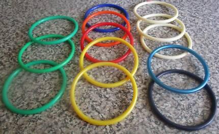 22 X Kids Coloured Bangles (Most New) ***BULK LOT***