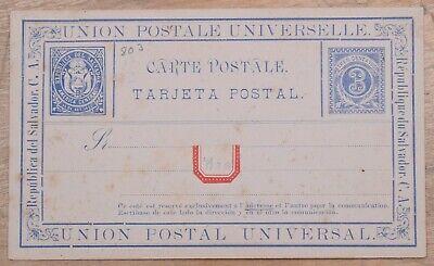 MayfairStamps El Salvador 3 Cents Universal Postal Union Unused Stationery Card