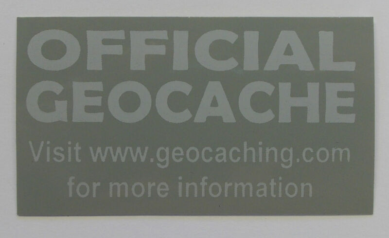 3 x Cache stickers for Geocaching gray print on gray sticker