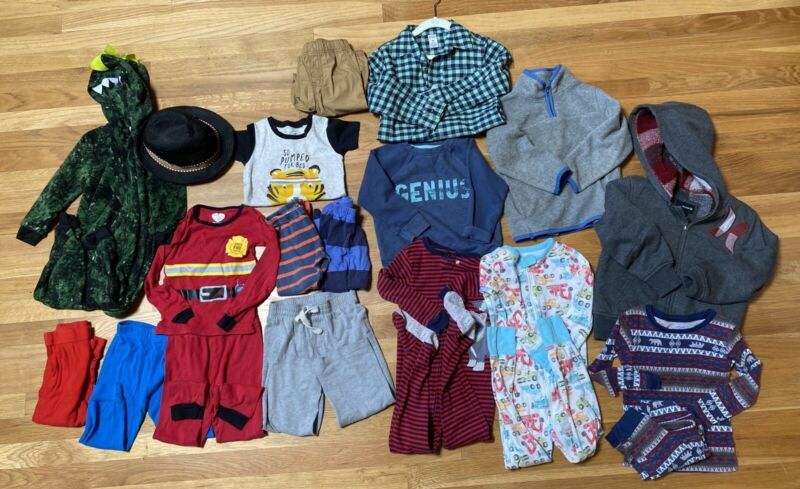 ADORABLE 19 PC LOT OF BOYS TODDLER CLOTHES SIZE 3T 4T 5T~GREAT BRAND NAMES