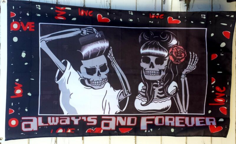 Lowrider Art 3x5 Flag Always And Forever Chicano/Chicana Style Art Love