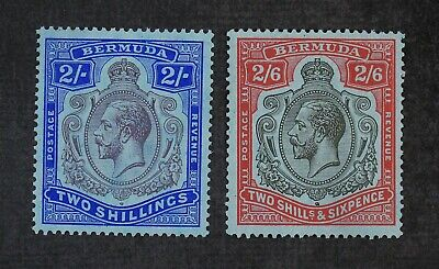 CKStamps: Bermuda Stamps Collection Scott#94 95 Mint H OG
