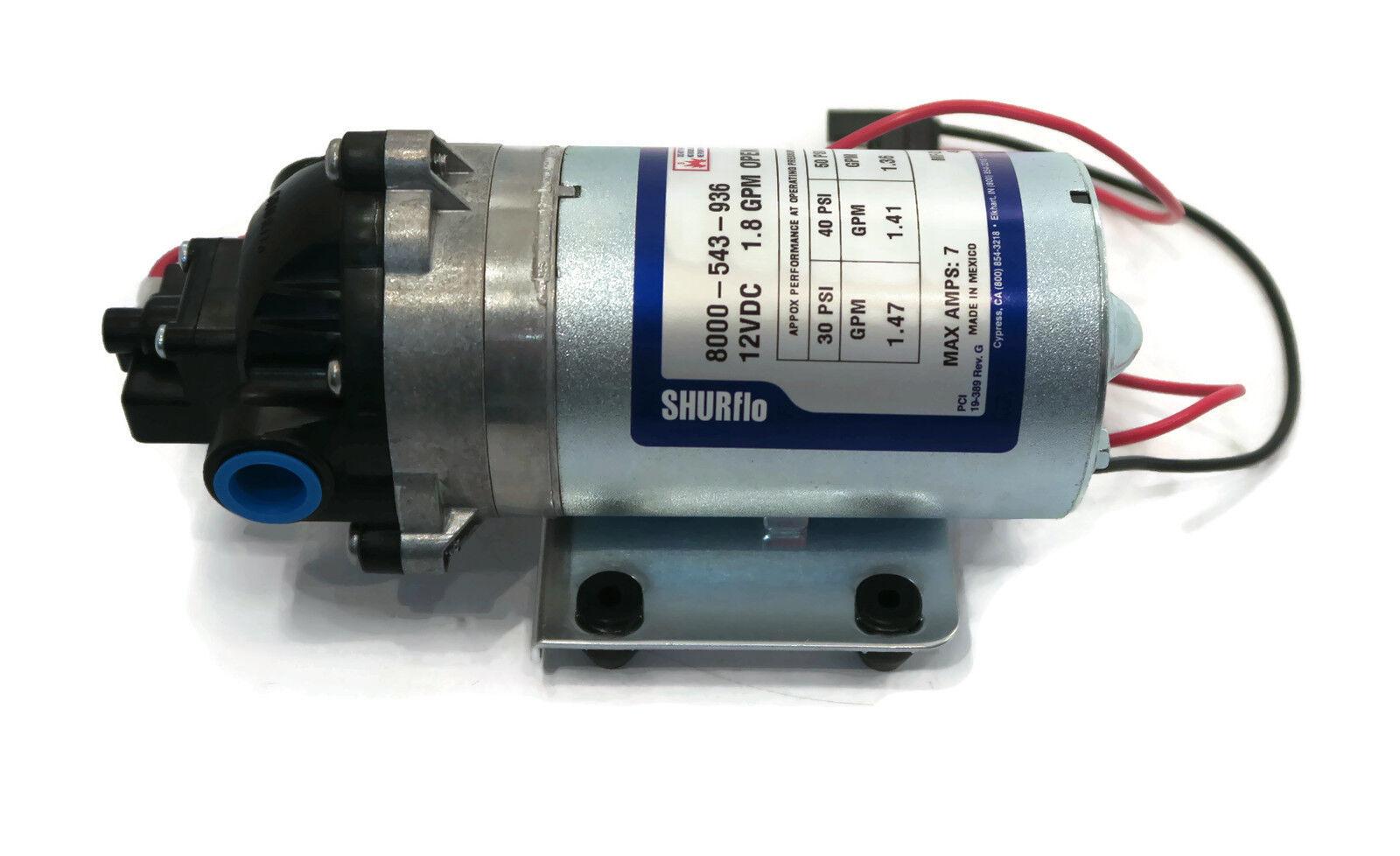 New Shurflo 12v Volt Demand Water Pump W Wiring Harness Camper Rv Trailer Boat