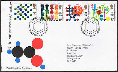 Chemistry Centenary Commemorative First Day Cover 1977 - stamps SG1029 to SG1032