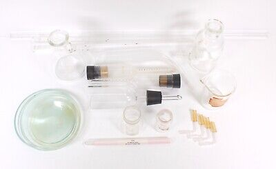 Mixed Lot Of Lab Equipment Flask Funnels Tubes Includes Pyrex