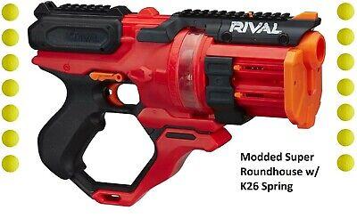 Modded SUPER ROUNDHOUSE Nerf Rival Blaster w/ K26 Spring Modded Revolver Upgrade