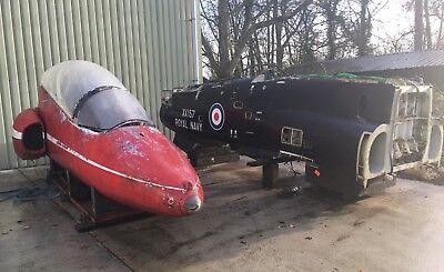 BAe HAWK T1 RAF JET AIRCRAFT FUSELAGE WITH MOCK UP COCKPIT