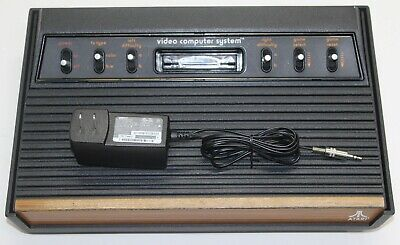 """Atari 2600 Console """"Light-Sixer"""" Recapped Sunnyvale USA A/V modded Fully Tested"""