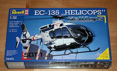 """1:32 Revell 04474 EC-135 """"HELICOPS"""" Hubschrauber in OVP versiegelt 2001"""