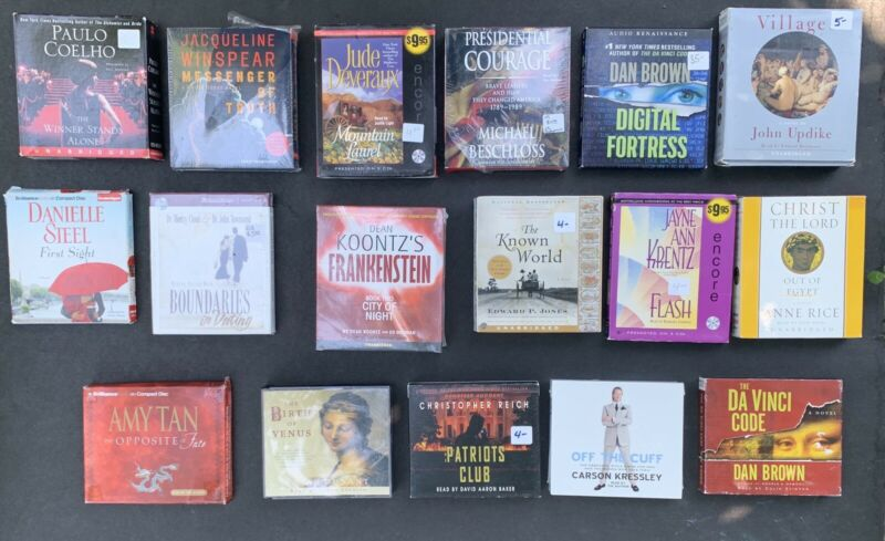 LOT audio book CD steel brown updike tan winspear koontz jones dunant kressley