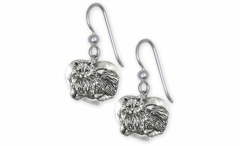 Keeshond Jewelry Sterling Silver Handmade Keeshond Earrings  KSH1-E