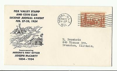 US 1028 (1953) 3c {Fox Valley Stamp and Coin Club} Cover