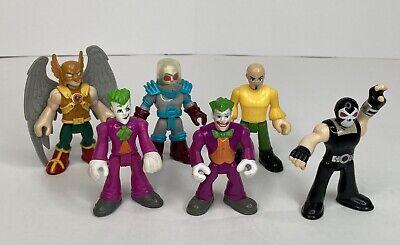 Lot of 6 Imaginext Figures 5 DC Comics 1 Gnome w/out Mask Bane Hawkman 2 Jokers