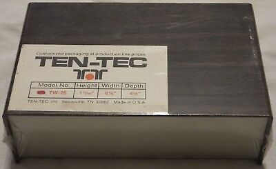 Vintage Ten-tec Aluminum Project Box Enclosure Case Electronic Diy - Medium