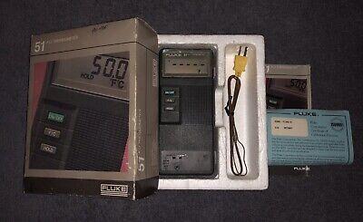 Fluke 51 80 Pk 1 2 Type K Thermo Multi Meter Thermocouple Temperature C70 Case
