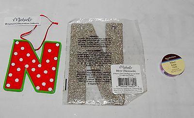 Christmas Custom Alphabet Letter N Glitter 6