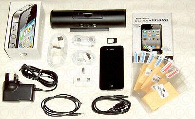 Apple iPhone 4 - 32GB - Black (Unlocked) A1332 Smartphone + Many Extras