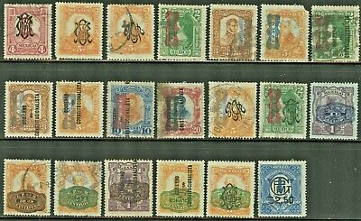 1915-16 Mexico Stamps. Variety. Used, LH and No Gum.