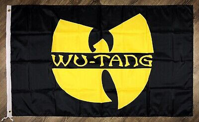 WU TANG CLAN Flag 3x5 ft Rap Hip-Hop Banner Man-Cave Black Yellow Garage - Hip Hop Banners