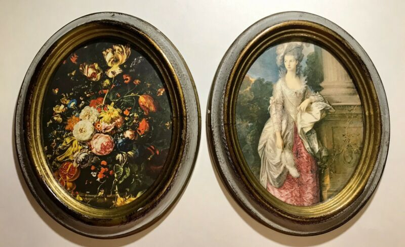 Set of 2 Vintage Oval Victorian Picture Frame Cheswick PA Made in Italy OFM Pair