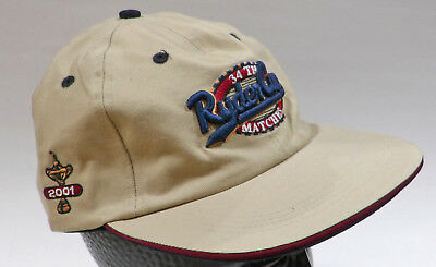 34th Ryder Cup Matches Hat Cap 2001 POSTPONED NEW Adjustable Beige Licensed 5b7bafb1c4ce