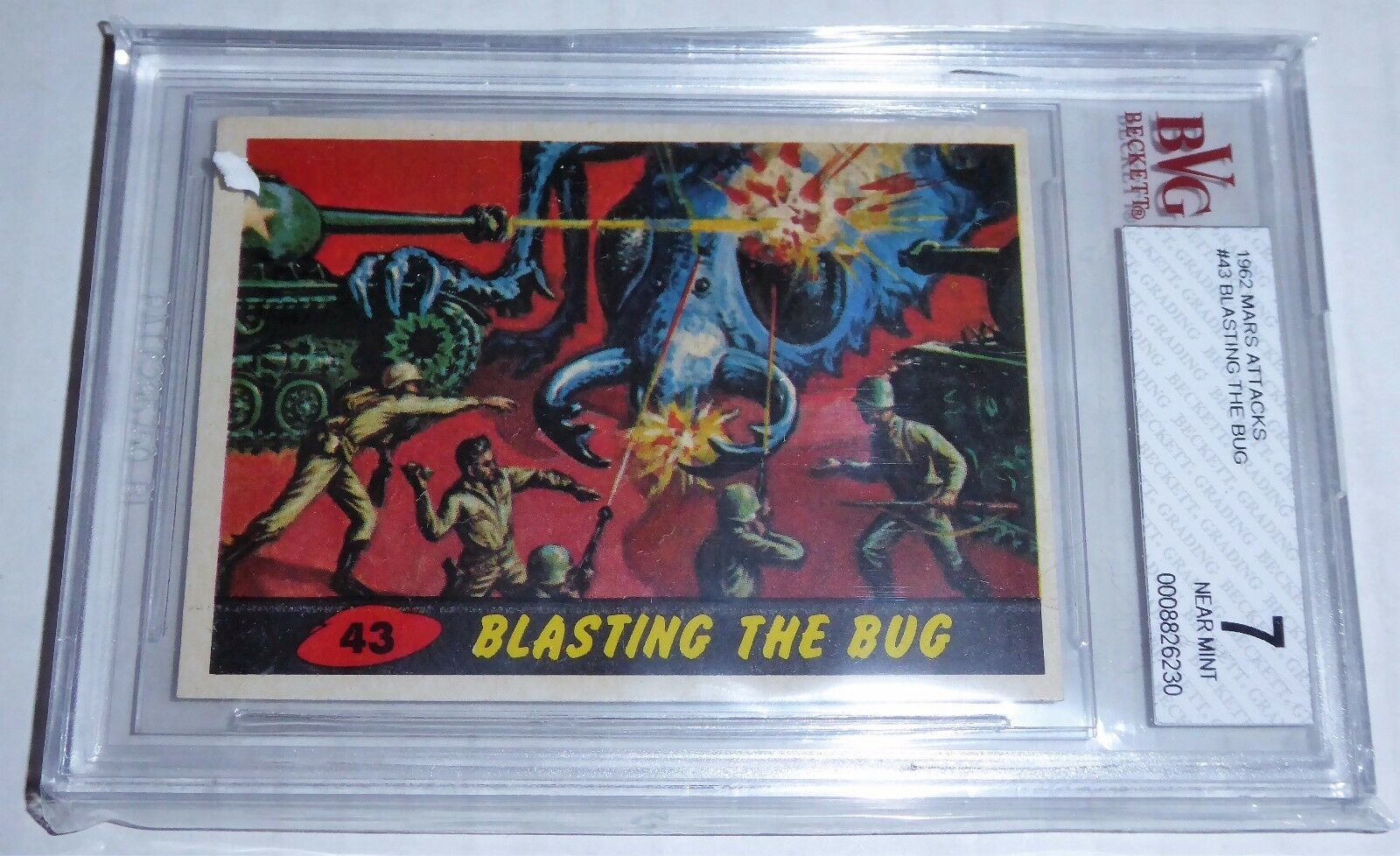 1962 Mars Attacks Blasting the Bug Card #43 BVG 7 Like PSA BGS Aliens UFO Horror