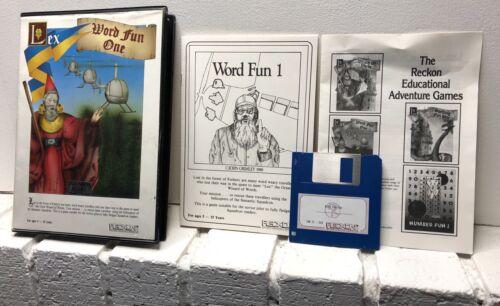 Computer Games - Vintage 1988 Computer PC Software Word Fun One IBM Reckon Game
