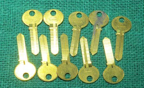 Lot Of 10 Corbin Cabinet Lock Key Blanks No 4195C-AR Nice & Shiny Free Shipping