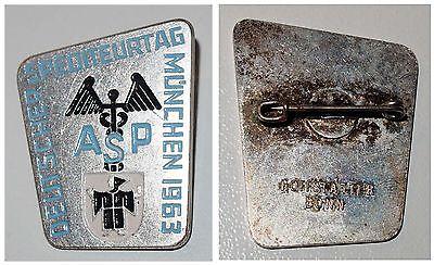 Broschen-Anstecknadel Deutscher Spediteurtag München 1963 ASP