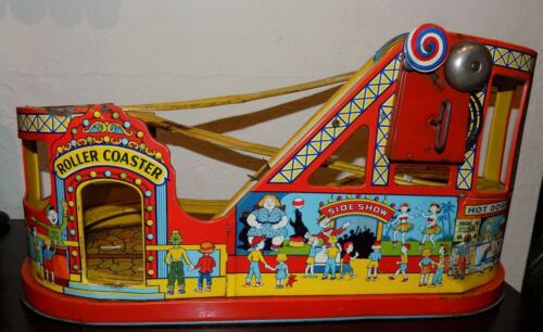 Chein Tin Toy Roller Coaster WORKS!