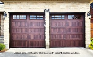 8x7 ACCENT SERIES GARAGE DOORS ......... FROM $1500 INSTALLED