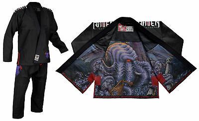 Raven Fightwear Men's Cthulhu Elite Jiu Jitsu Gi BJJ Uniform Black  ()