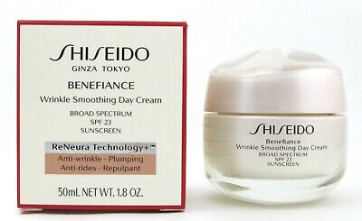 Shiseido Benefiance Wrinkle Smoothing Day Cream SPF 23 1.8 oz./50 ml. New in Box