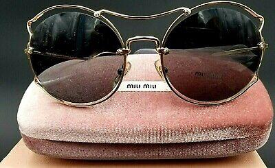 Miu Miu Sunglasses (MU 50SS ZVN9K1) 57mm, Pale Gold Frames, Gray Lens